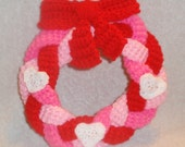 Crochet Valentines Wreath