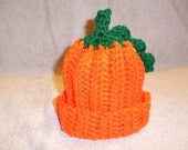 Crochet Pumpkin Infant Hat