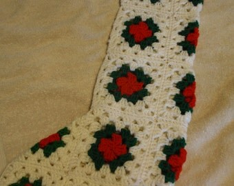X-Large Crochet Christmas Stocking