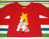 Sale- Christmas Ribbon Tree Shirt Ready to Ship - torilynn817
