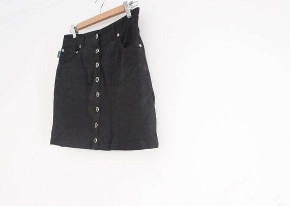 vintage button down high waist mini skirt