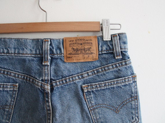 original ripped levis strauss shorts