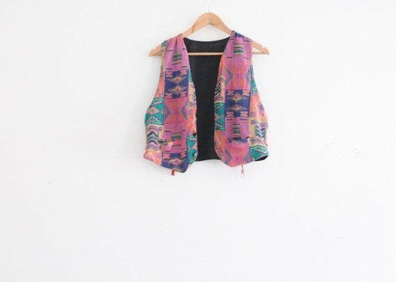 RESERVED. aztec tribal pattern waist coat