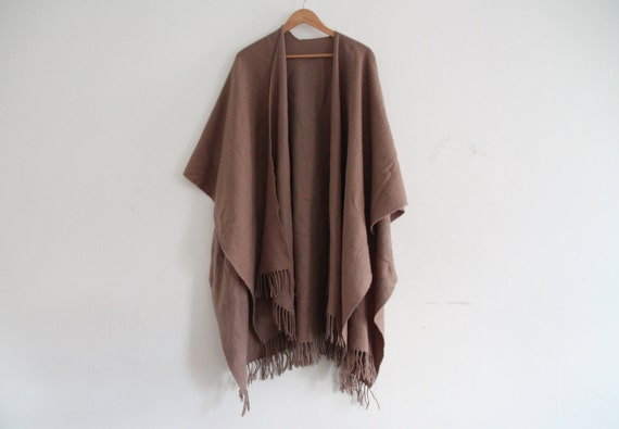 slouchy tan throw over shawl