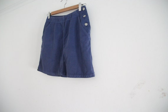 SALE: purple denim high waist skirt