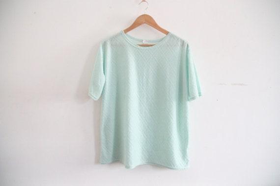 pastel green slouchy tshirt