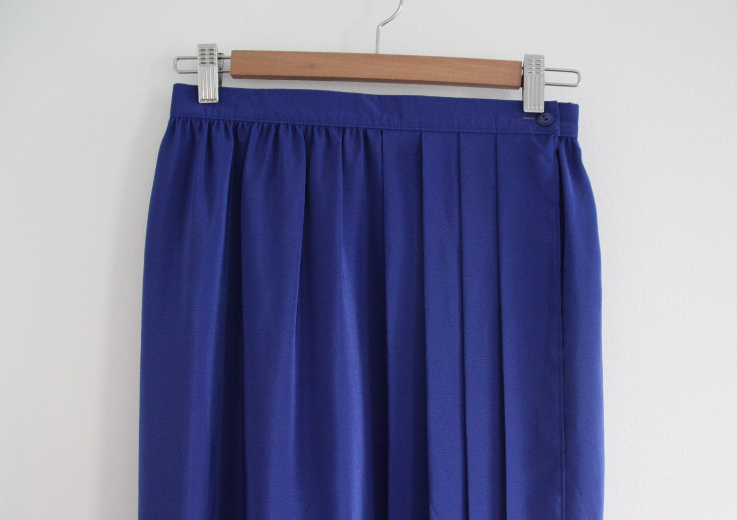 sale bright blue high waisted maxi skirt by whatezekielsaw