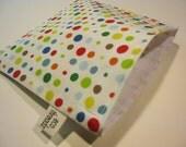 Eco Friendly Reusable Sandwich Bag  - Confetti Polka Dots