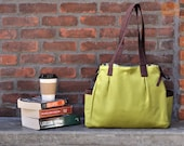 Everyday canvas Bag / Diaper Bag in Olive Green - Ready to Ship