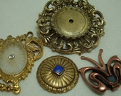 Vintage Metal Parts Pieces for Steampunk Altered Art Charms Brass Copper