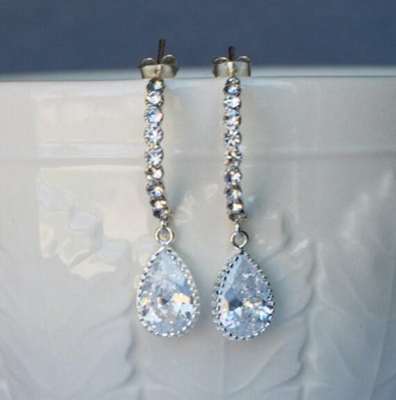 Bridal Earring Wedding Earring Rhinestone Earring Crystal Dangling Earring Wedding Jewelry Bridal Jewelry ER010LX