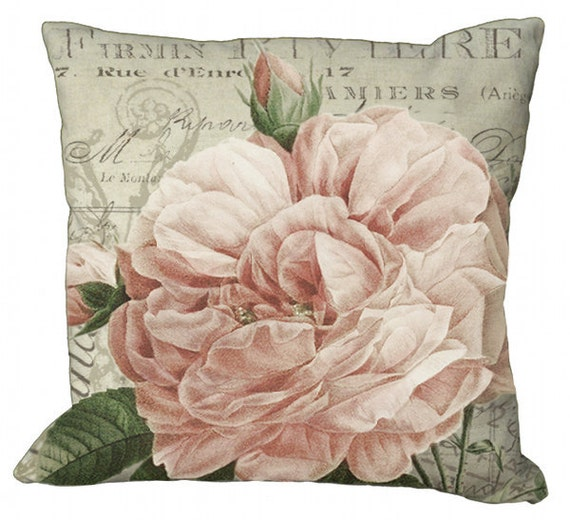 Romantic Rose in Choice of 14x14 16x16 18x18 20x20 22x22 24x24 26x26 inch Pillow Cover