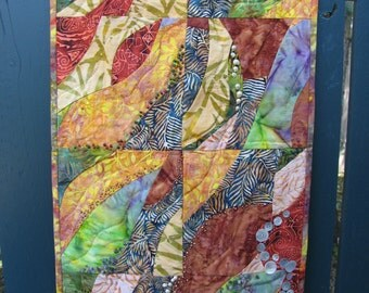 Earth Colored Wallhanging- Journey to the Center of the Earth No.2