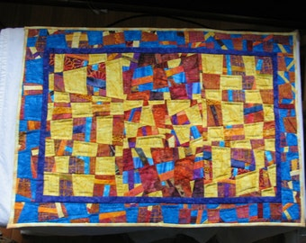 """Textile Art Wall Hanging  """"It's Complicated"""""""