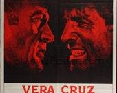 VERA CRUZ Vintage Original French Movie Poster 1sh one sheet