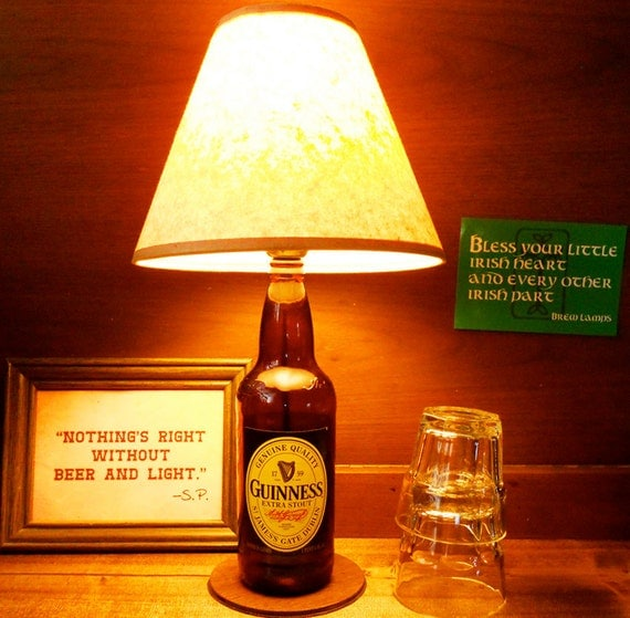 Guinness Stout Beer Bottle Lamp Light FREE US by BrewLamps ...
