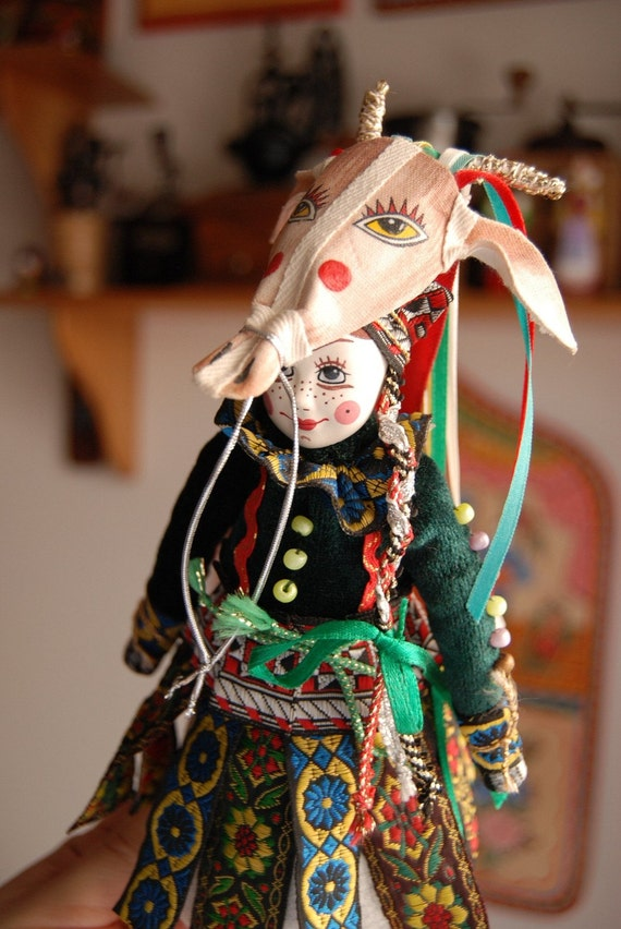 Doll with Goat Mask