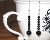 Black Onyx Bohemian Earrings Sterling Silver Unique Gifts for Her Chakra Jewelry Gifts for Mom Strength Protection Success Healing Stones