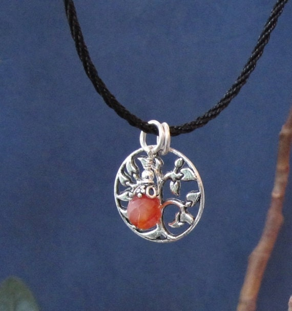 Tree of Life Pendant Necklace Fertility Crystal Chakra Red Carnelian Charm, Meaningful Inspiring Graduation Gift for Her under 30 Mother Day