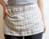 CAFE APRON linen check
