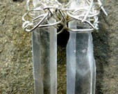 RESERVED FOR LISA Lemurian Seed Crystal Quartz Point Sterling Silver Earring