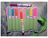 Valentine Crayon Roll Applique Machine Embroidery Design
