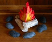 Felt Bonfire Play Set Embroidery Machine Applique Design