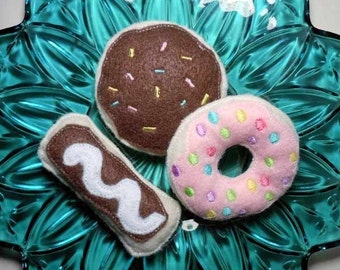 In The Hoop Fun Felt Food Doughnuts Applique Machine Embroidery Design