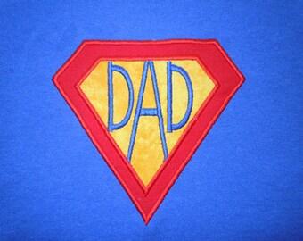 Special Super dad embroidery machine applique design