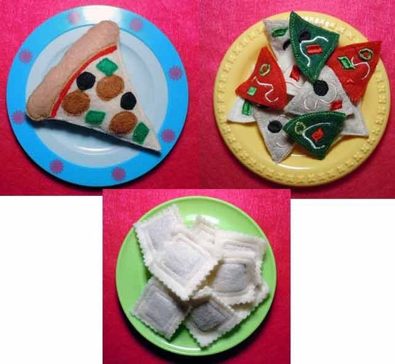 In the hoop italian felt food set applique machine embroidery for Applique lumineuse cuisine
