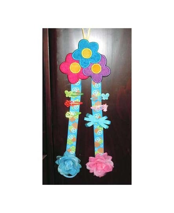 Items similar to in the hoop floral bow holder machine