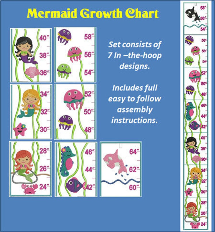 In The Hoop Mermaid Growth Chard Design For By