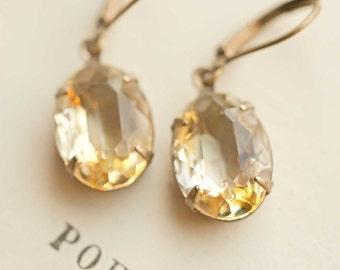Yellow Earrings Jonquil Earrings Dangle Earrings Bridesmaid Earrings Wedding Jewelry Bridal Earrings Bridesmaids Earrings