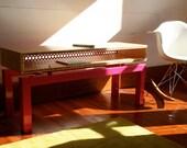 Steel & Bamboo Coffee Table Console, Custom Furniture