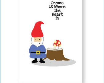 Gnome Greeting Card