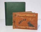 Charming Vintage wood photo album Scotty Dog Adirondack style