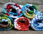 Custom 2x3ft rag rug from recycled t shirts, handwoven, eco friendly