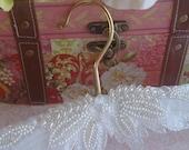 Hollywood wedding dress hanger, regal, white and gorgeous