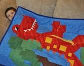 T-Rex Quilt Pattern (3 sizes) - PDF