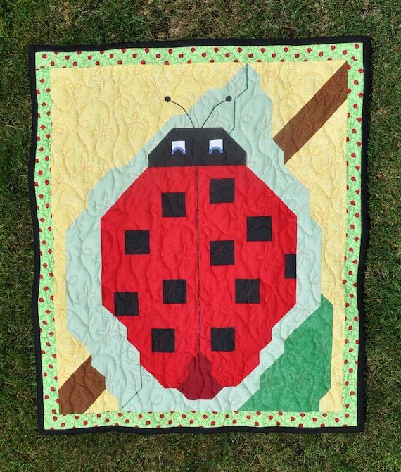 Ladybug Baby Quilt Pattern in 3 sizes PDF
