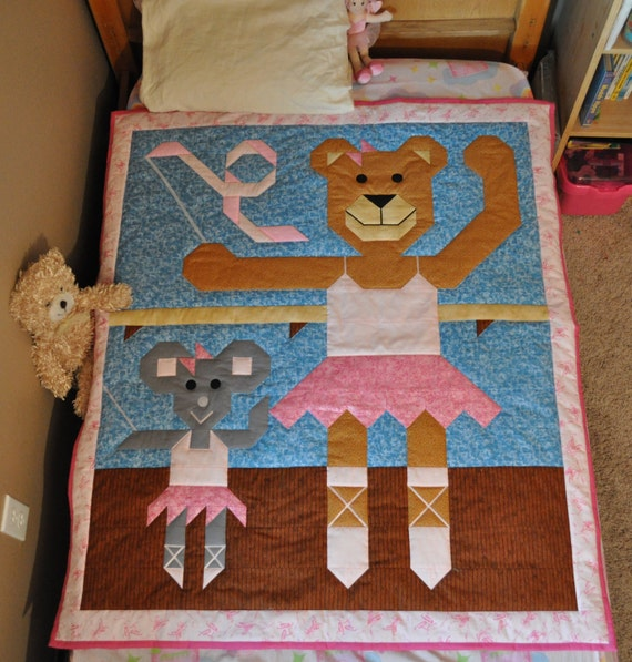 Ballerina Quilt pattern with 3 sizes in PDF format