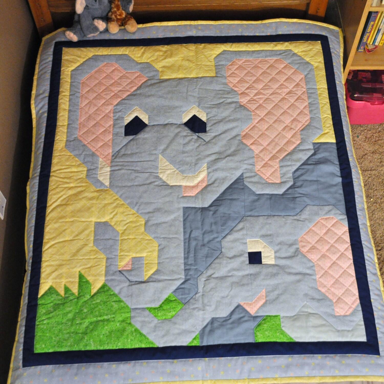 Baby Blue Elephant Pattern In Multiple Sizes Pdf