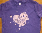 Little Sister Shirt - 6 Colors Available - Big Sister / Little Sister Kids T shirt Sizes 2T, 4T, 6, 8, 10, 12 - Gift Friendly