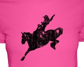 Horse Rodeo Cowgirl Shirt - Womens Cotton Shirt - 4 Colors Available - S, M, L, XL - Gift Friendly