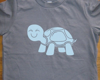 Boys Shirt / Girls Shirt / Animal - Turtle Shirt - Kids Shirt - 6 Colors Available - Sizes 2T, 4T, 6, 8, 10, 12 - Gift Friendly