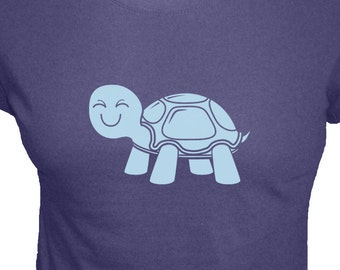 Turtle Shirt - Womens Organic Shirt - 4 Colors Available - Organic Bamboo and Cotton T Shirt - Gift Friendly