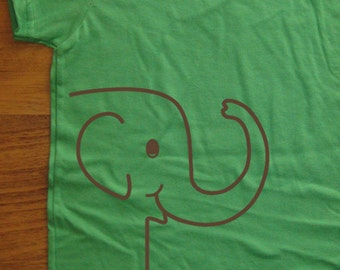 Kids Shirt - Elephant Shirt - Girls Shirt Boys Tshirt - 7 Colors Available - Sizes 2T, 4T, 6, 8, 10, 12 - Gift Friendly