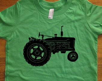 Tractor shirt - Kids Shirt - Farm Shirt - Farming Kids Boys or Girls T Shirt - Colors Available - Sizes 2T, 4T, 6, 8, 10, 12 - Gift Friendly