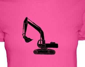 Backhoe Shirt - Construction Shirt - 3 Colors Available - Womens Cotton Shirt - S, M, L, XL - Gift Friendly