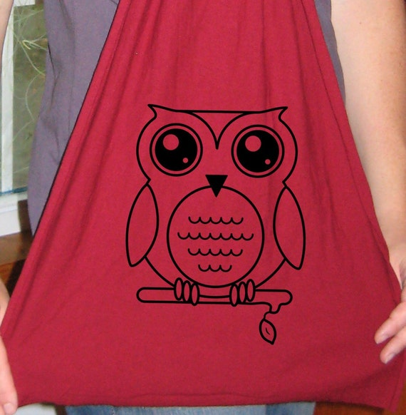 Owl Scarf - Mens Scarf or Womens Scarf - Jersey Cotton Scarf - 2 Colors Available - Gift Friendly